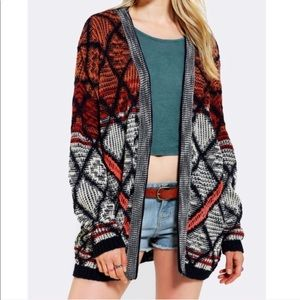 UO Staring at Stars Oversized Knit Open Cardigan